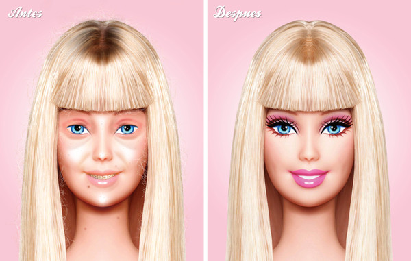 Barbie's Naked Face